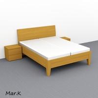 3d model bed 160 200 cm