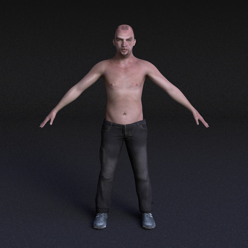 3d character male - rigged model