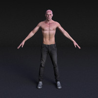 3d character male - rigged