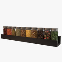 contemporary spice rack 3d max