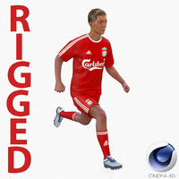 soccer player liverpool rigged 3d c4d