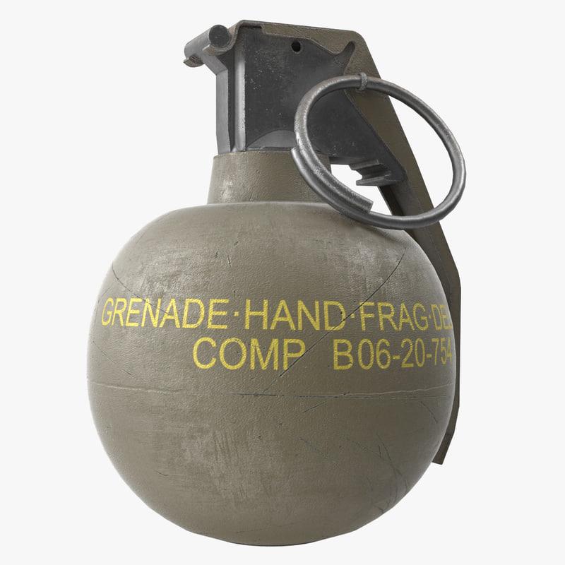 3d model m67 hand grenade
