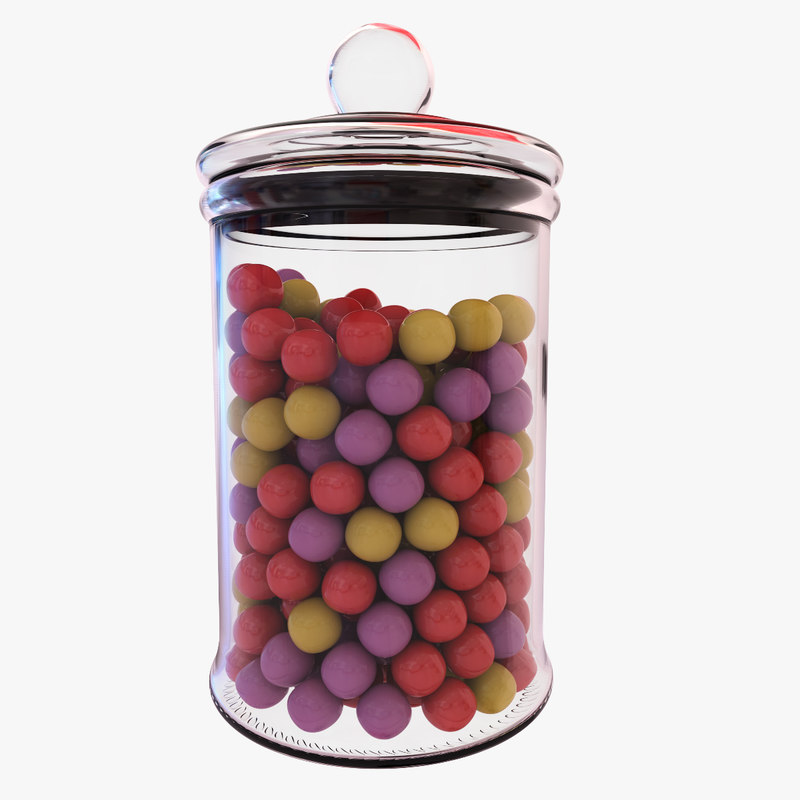 3d chewing-gum jar