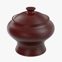 3d model clay pot roast