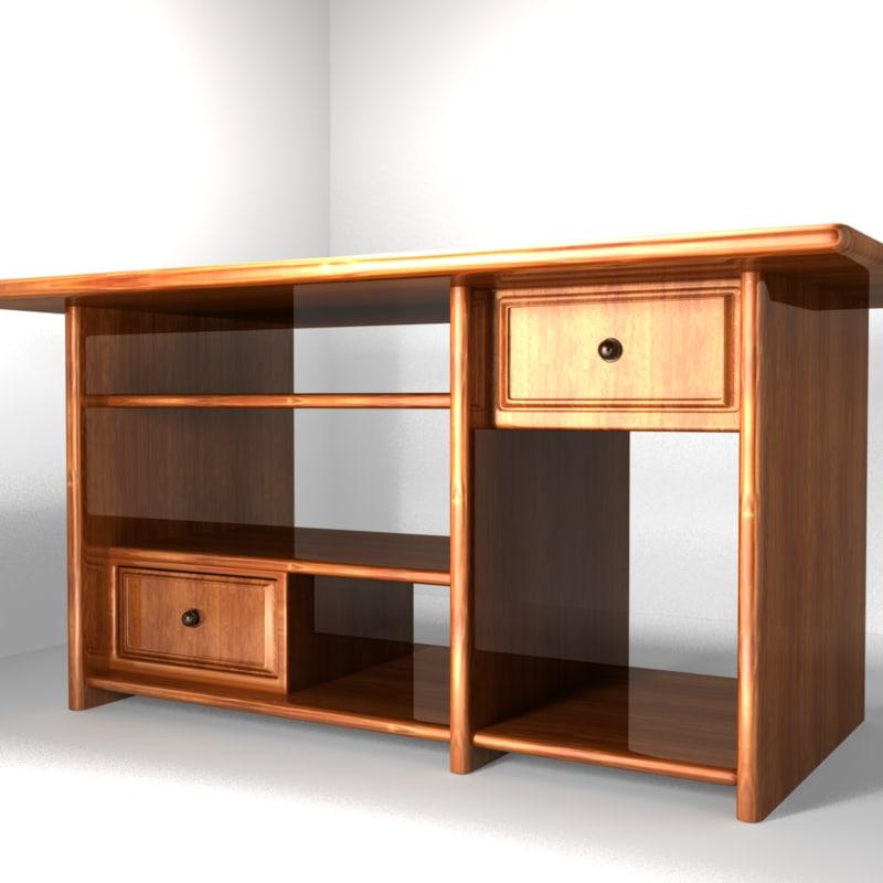 computer table desk 3d ma