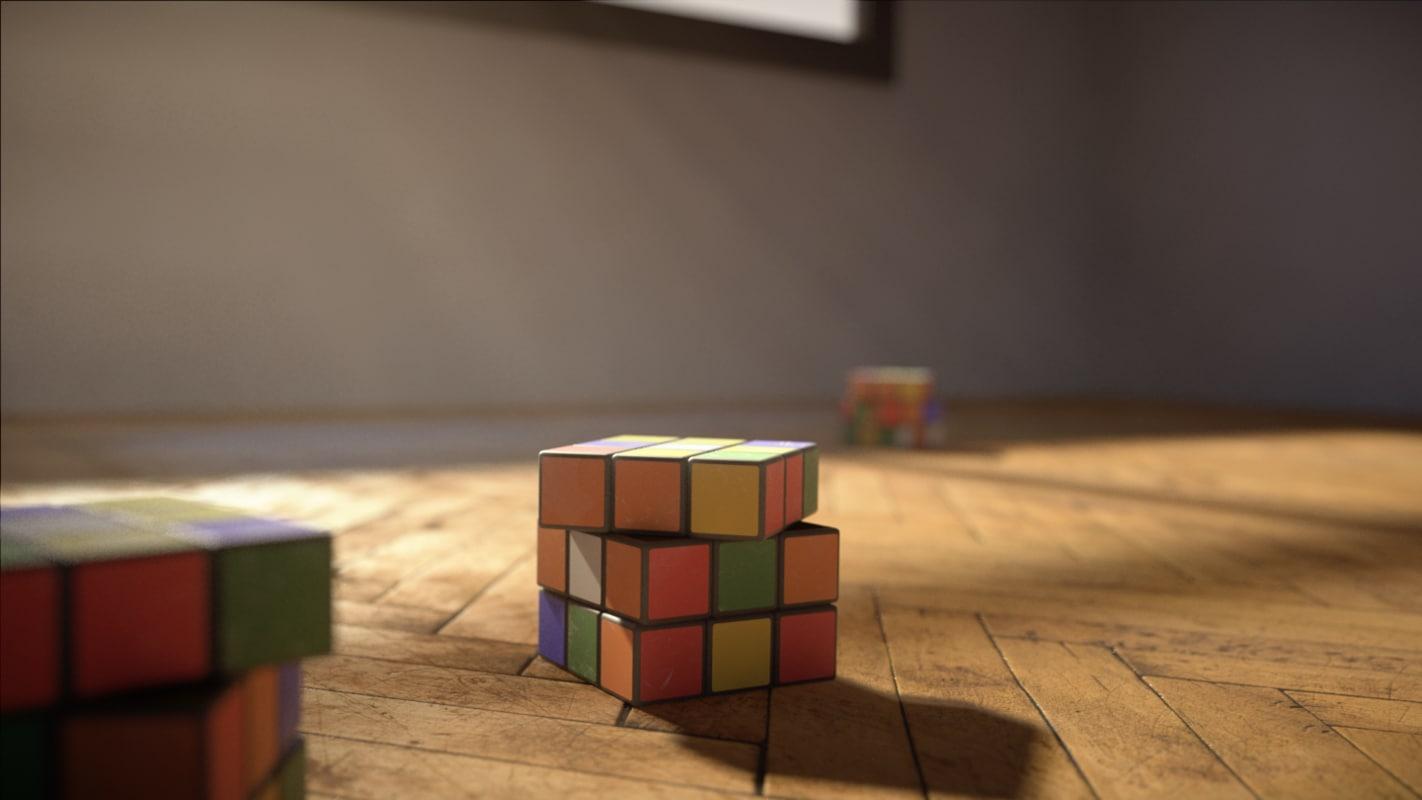 3d model photorealistic magic cube