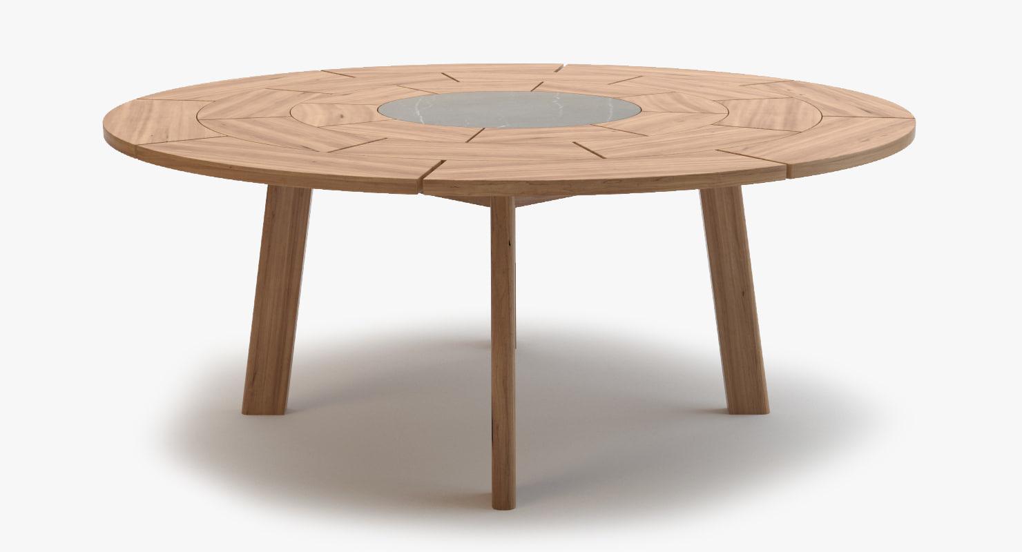 roda brick table 003 3d model