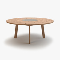 roda brick table 003 3d model