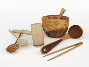 t utensil wood 3d max