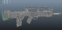 3d famas firearm weapon model