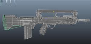 3d famas firearm weapon model
