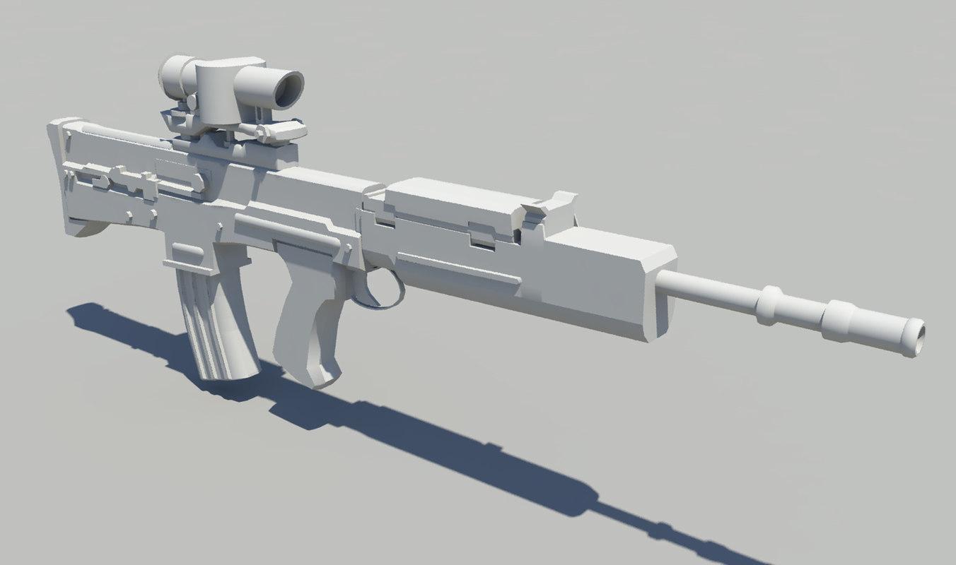 sa80 l85 weapon gun 3d ma