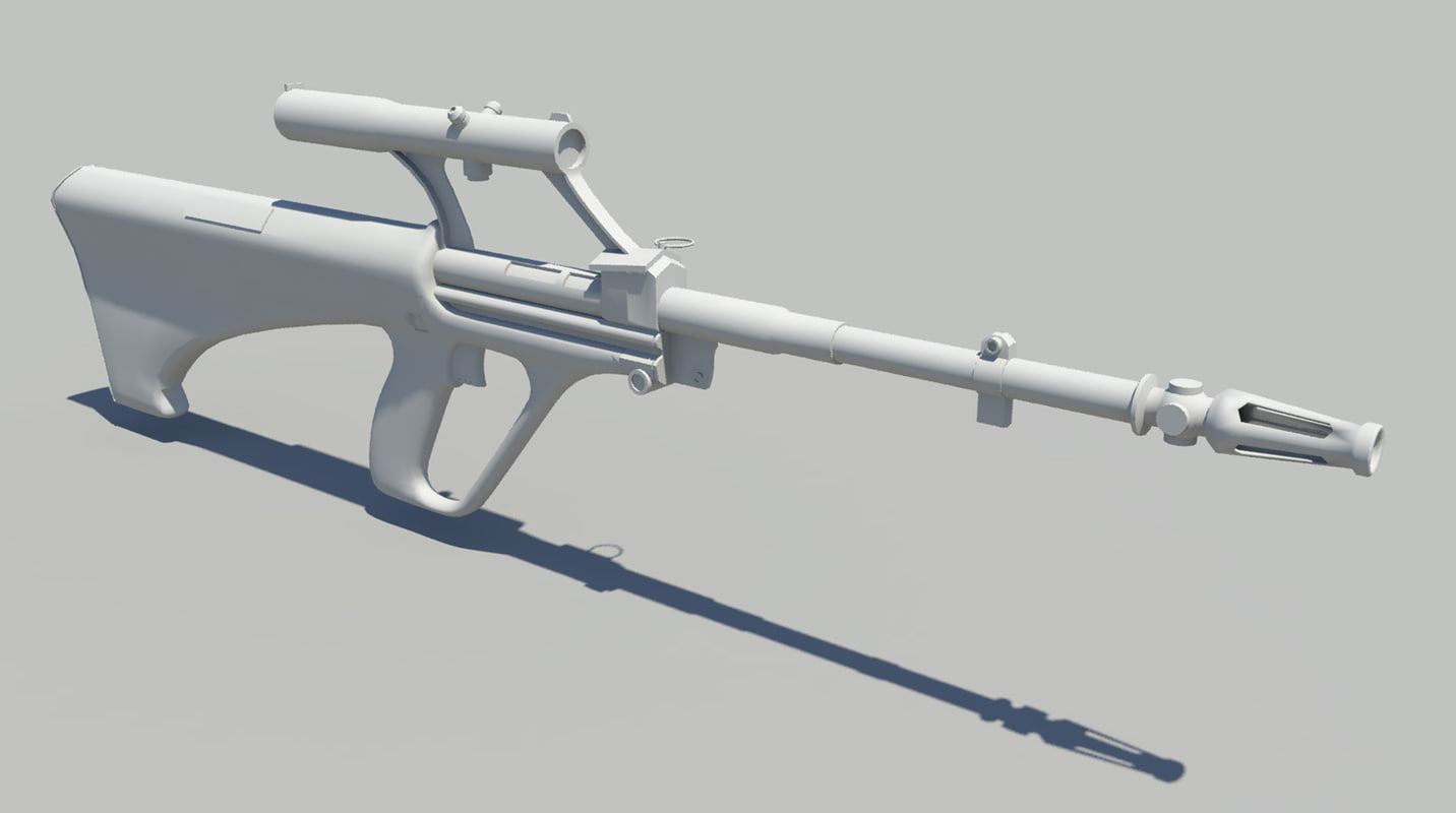 3d steyr aug rifle