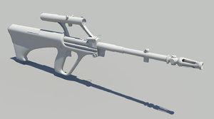 3d steyr aug rifle