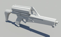 3d model calico m950 smg