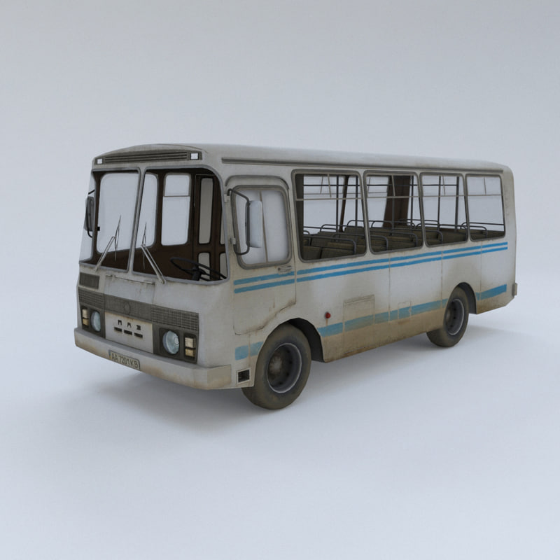 paz bus - 3d max