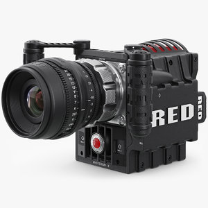 3d red epic camera 3 model