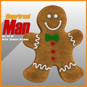 gingerbread man 3d max