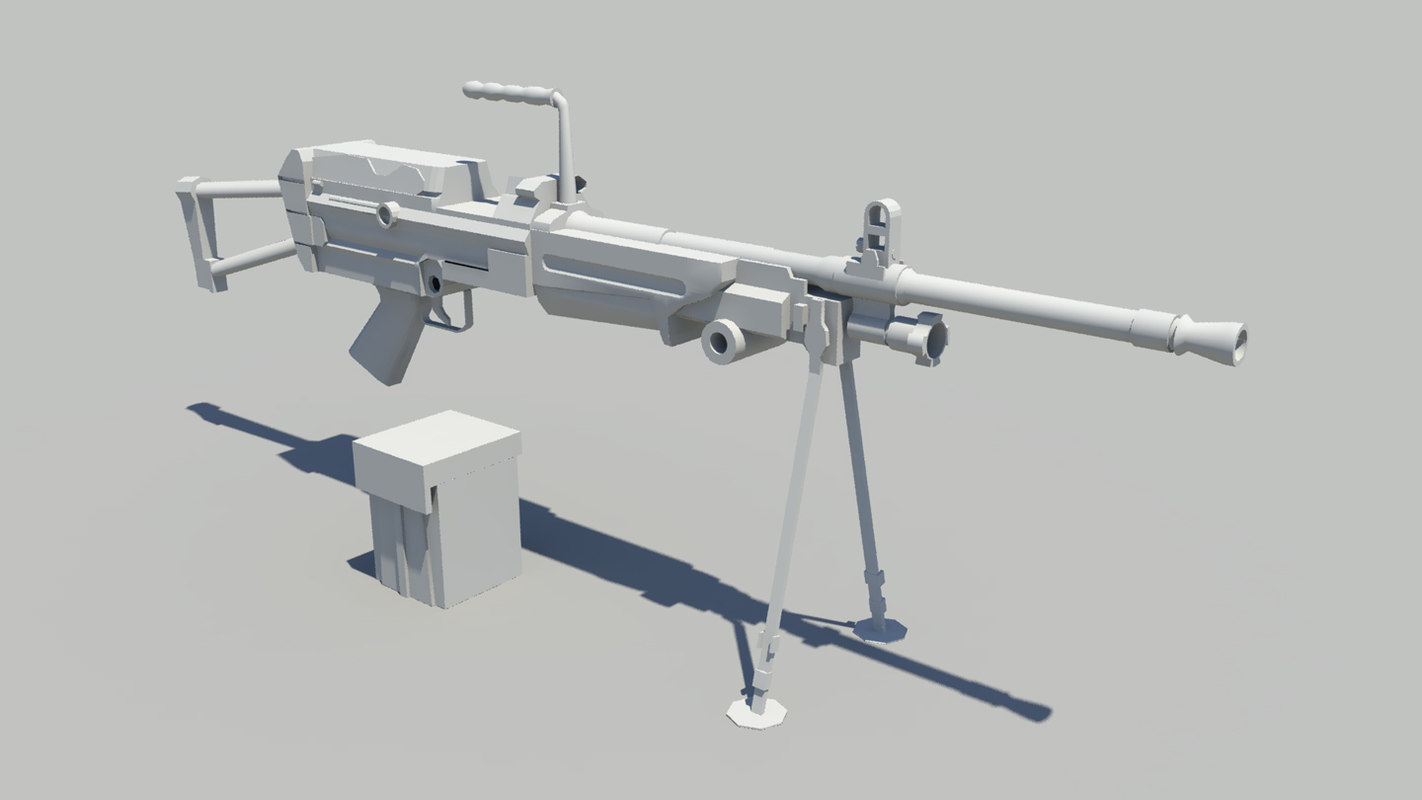 pkm machine gun 3d obj
