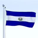 El Salvador flag 3D models