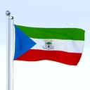 Equatorial Guinea flag 3D models