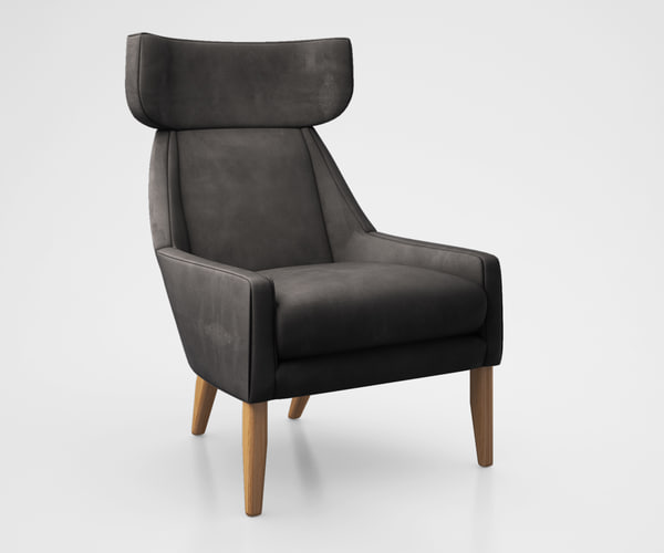 leiden chair west 3d model