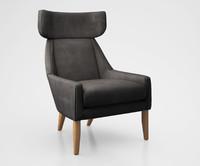 leiden chair west 3d model