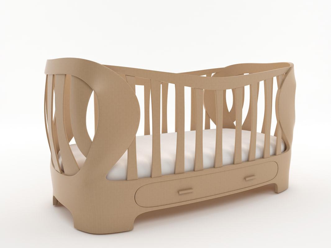 crib baby 3d x