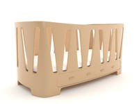 3d crib baby model