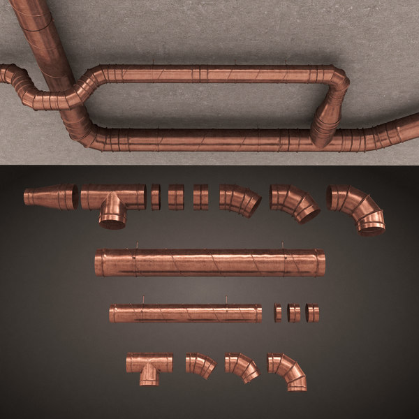bronze air conditioning 3d model