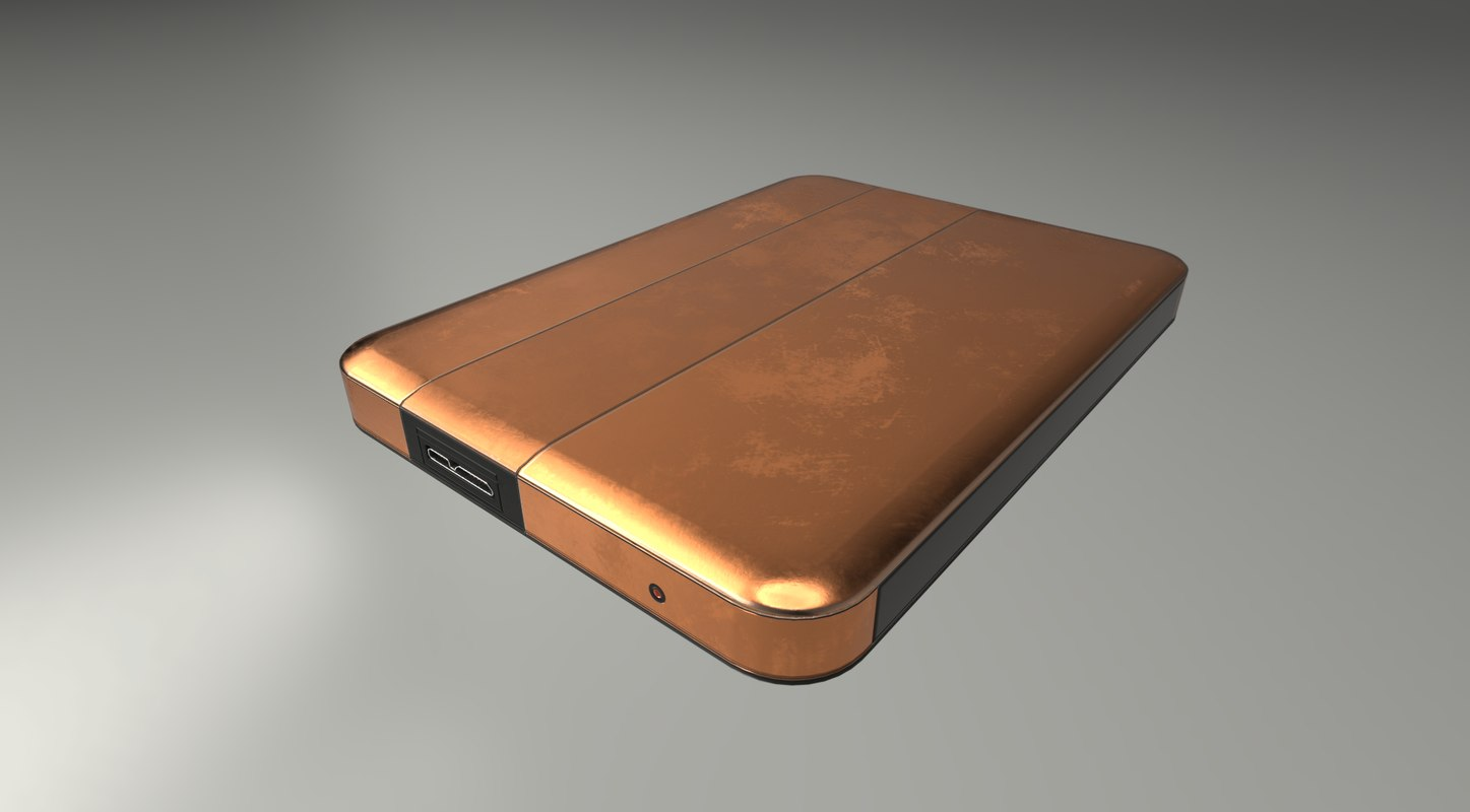 version external hard drive 3d model