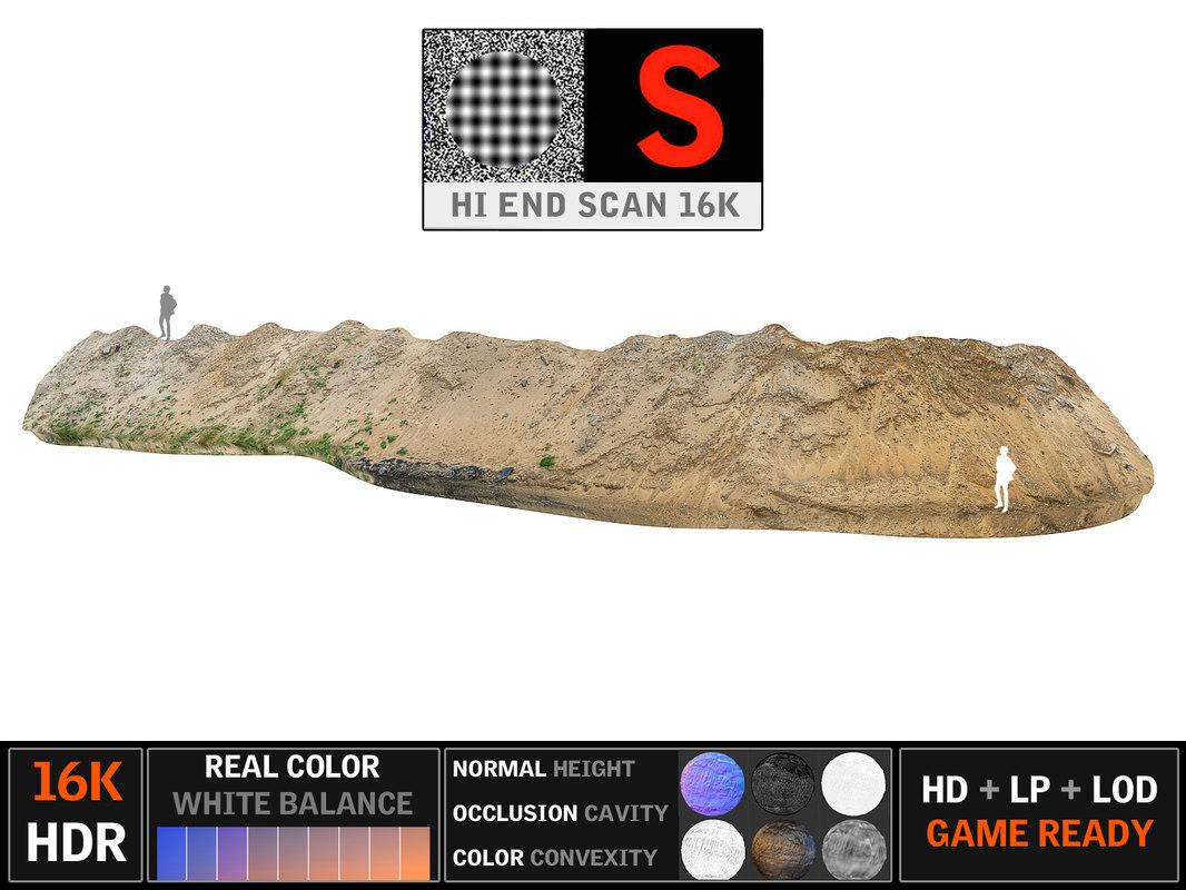sand heap 16k 3d model