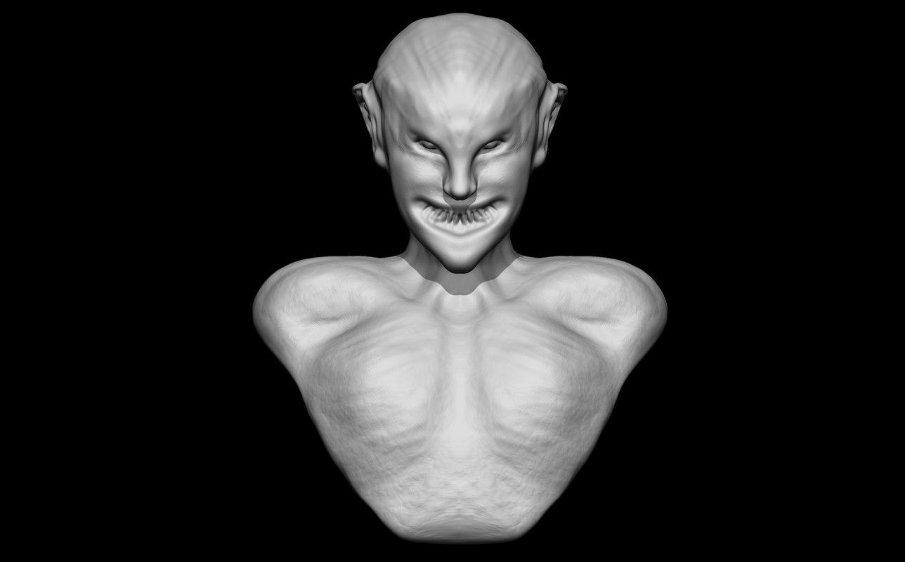 weird creature 3d model