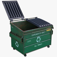 3d model of recycling dumpster
