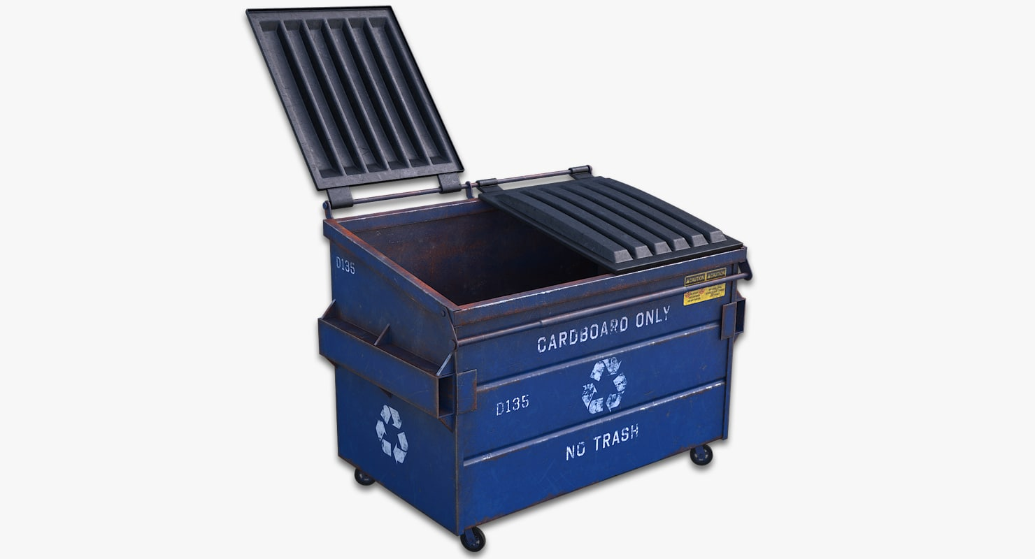 recycling dumpster 3d max