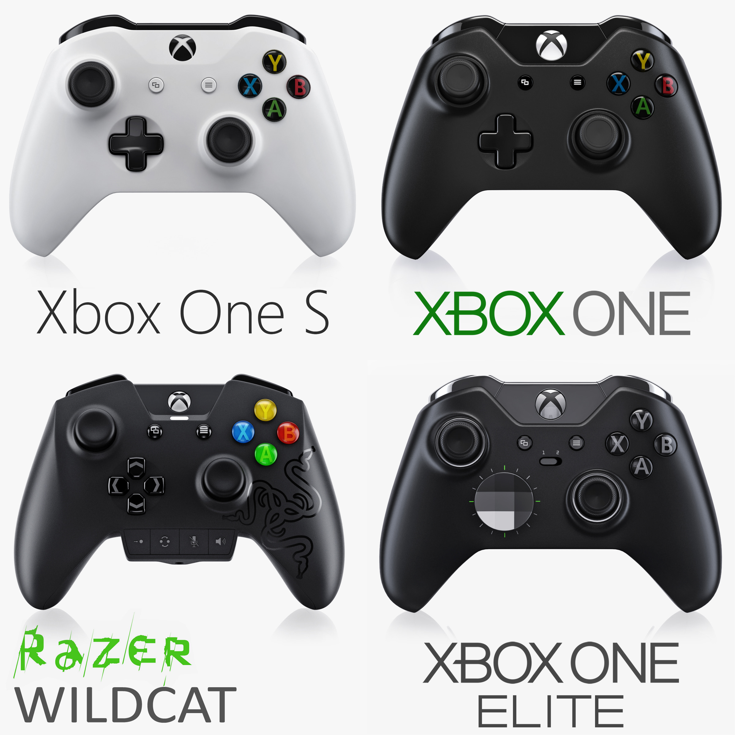 3d model xbox controllers s