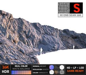 3d sand cliff 16k