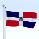 Dominican Republic flag 3D models