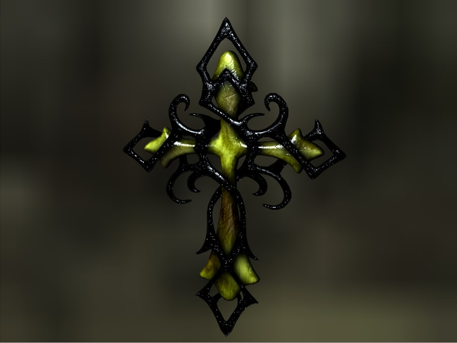 cross dark 3d c4d