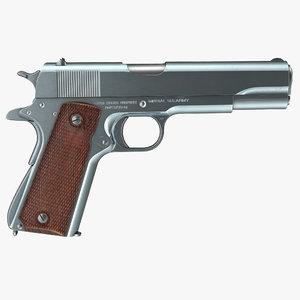 pistol colt m1911 3d c4d