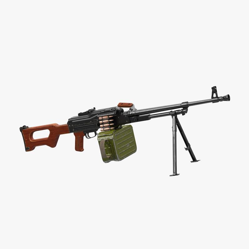 russian machine gun pkm 3ds