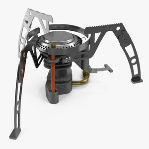 folding portable camping gas stove 3d model
