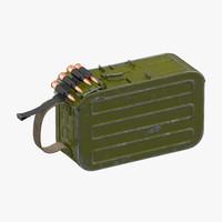 Machine Gun 100 Round Ammunition Box