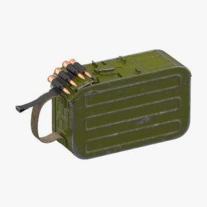 max machine gun 100 ammunition box
