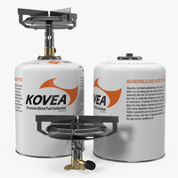 3d mini camping gas stove model