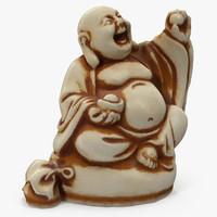 3d buddha ivory netsuke