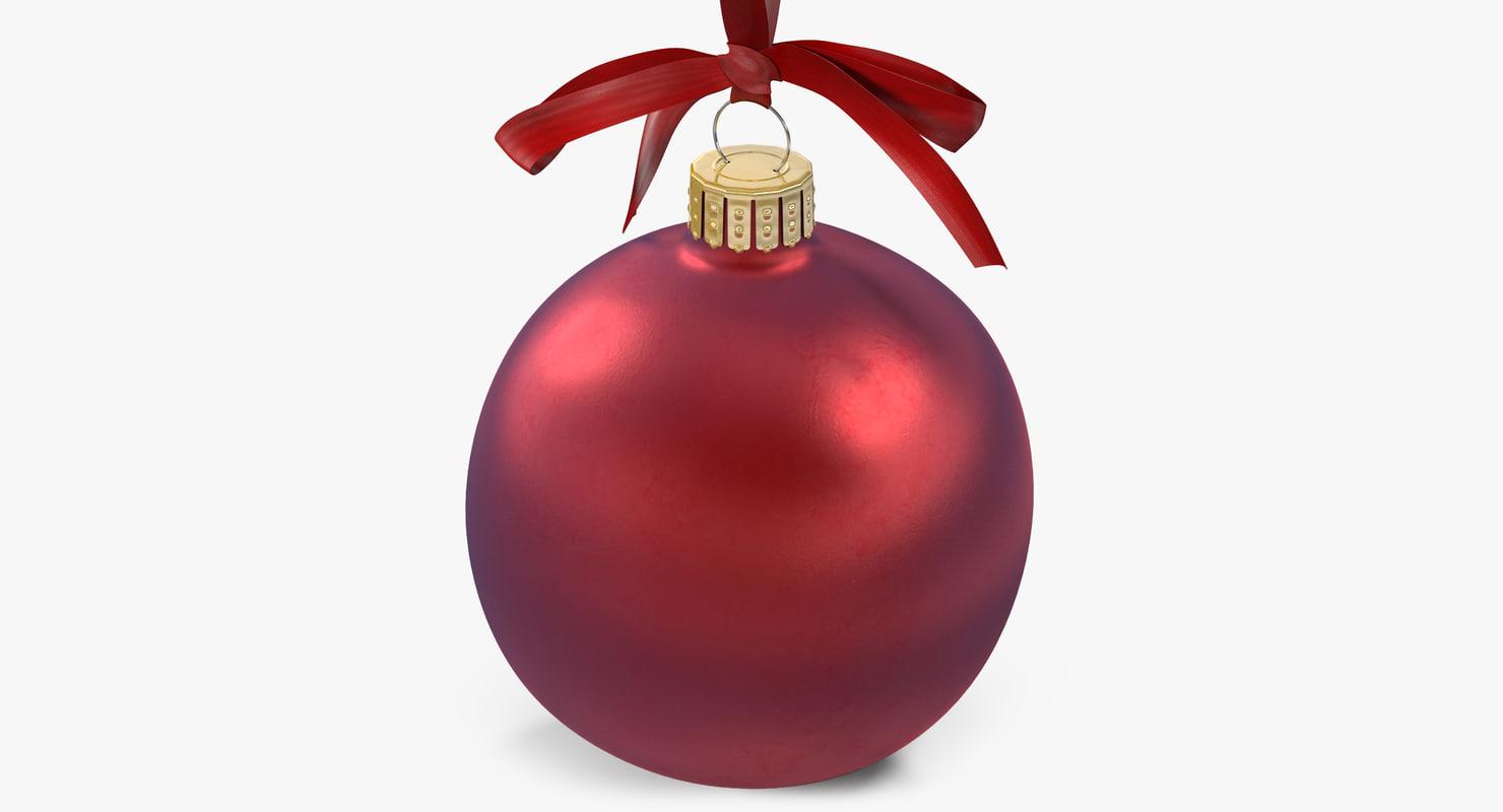 christmas ball 2 3d model