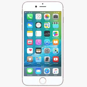 3d apple iphone 7 rose