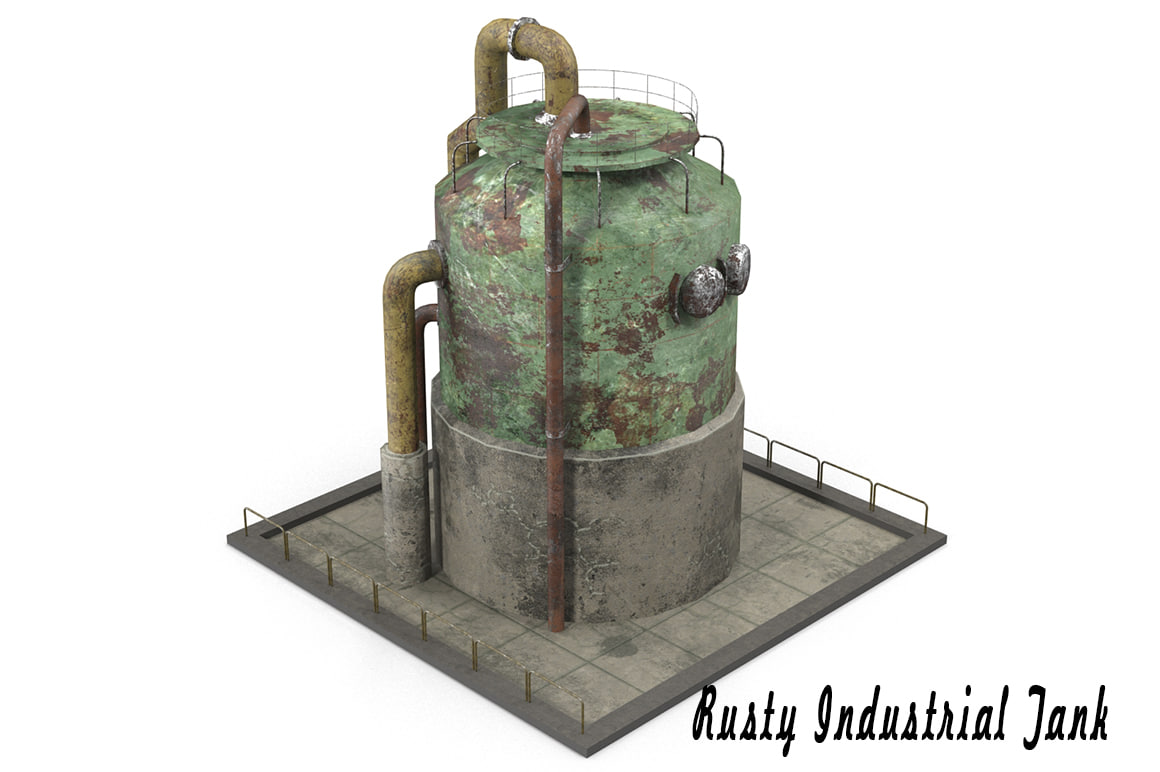 rusty industrial tank max