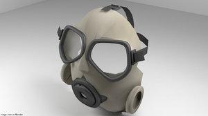 3d model gasmask mask